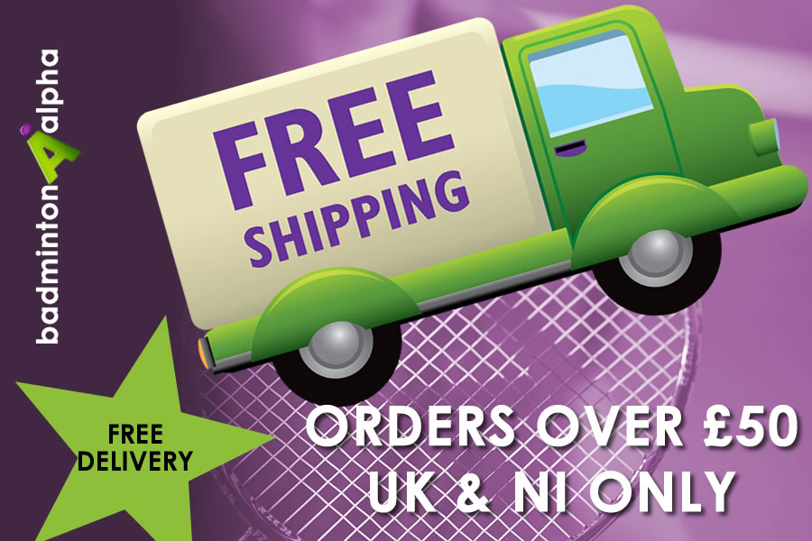Free Shipping from BadmintonAlpha for orders over £50